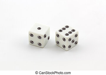 White dice.