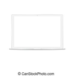 White digital laptop