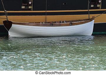 white dinghy