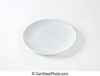White dinner plate - Contemporary plain white dinner plate