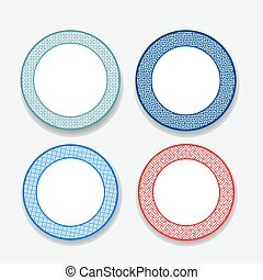 White dish with Chinese pattern,vector