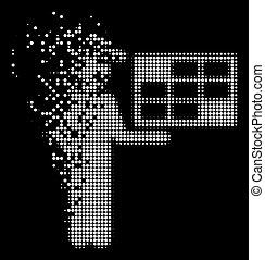 White Dissolving Pixelated Halftone Agent Schedule Icon -...