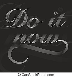 White do it now poster