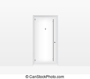 White door illustration