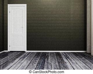 white door in the  room
