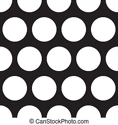 White dots black vector background