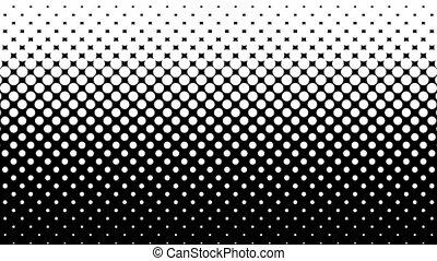White Dots Halftone Pattern. - White dots pattern on black....