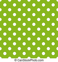 White Dots on Bright Lime Green