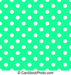 White Dots on Bright Sea Green