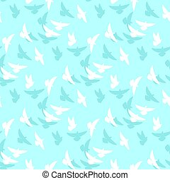 white dove vector pattern