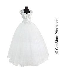 White dress isolated on white