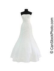 White dress isolated