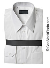 White dress shirt - New white dress shirt, isolated on white