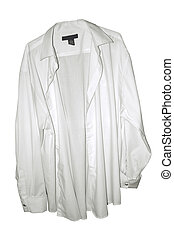 White Dress Shirt - a white dress shirt on a white...