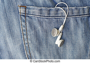 white earbuds in back pocket jeans - white earbuds in back ...