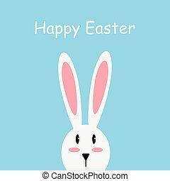 White easter rabbit. Easter Bunny