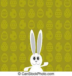 White Easter Rabbit.