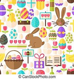 White Easter Seamless Pattern