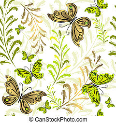 White effortless floral wallpaper