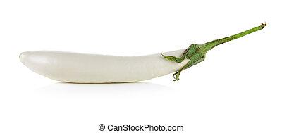 White eggplant isolated on a white background