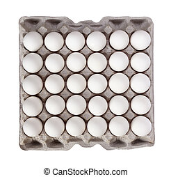 white Eggs pack isolated on white background