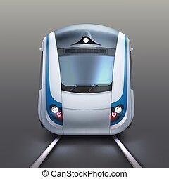 White electric train