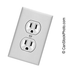 white electric wall outlet receptacle