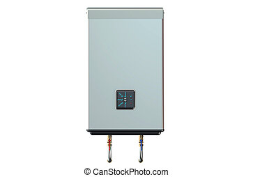 white electric water heater