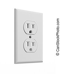 White electrical outlet