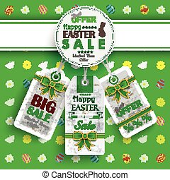 White Emblem Easter Price Stickers Sale