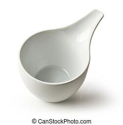 white empty bowl