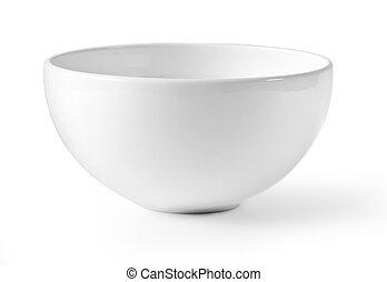 White empty bowl isolated on white background,