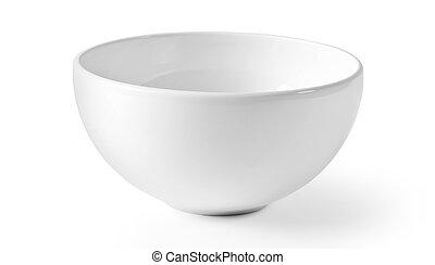 White empty bowl isolated