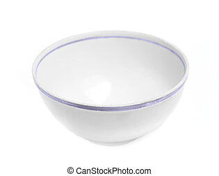 White empty bowl - Single bowl isolated on white background