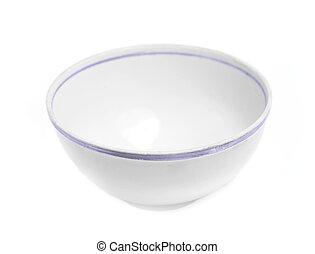 White empty bowl - Single bowl isolated on white background