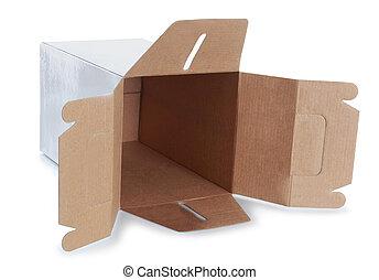 white empty box with handle