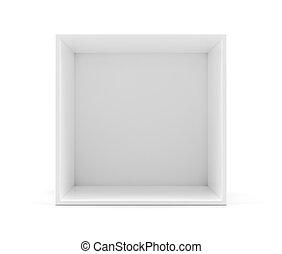 White empty clean shelf box