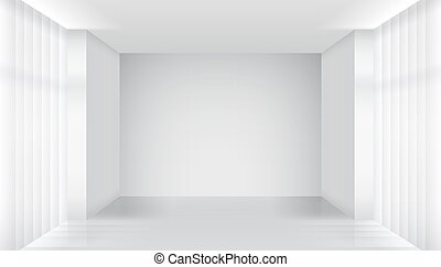White empty room interior