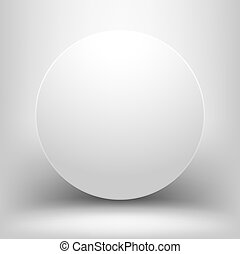 White empty sphere with shadow
