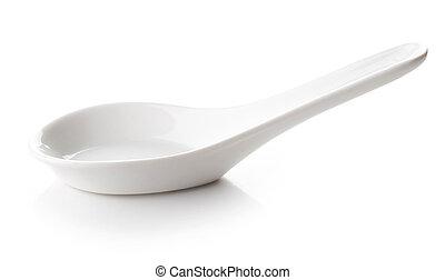 White empty spoon