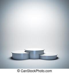 White empty sport winner podium. - 3d render illustration...