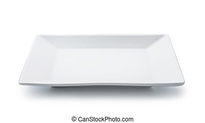 White empty square plate