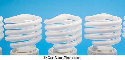 white energy saving lamp.