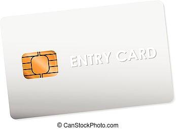 white entry card