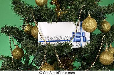 White envelope for christmas