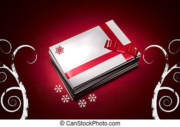 White envelope for christmas