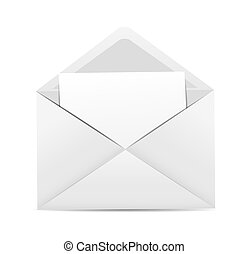 White Envelope Icon Vector Illustration