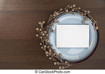 white envelope in a saucer