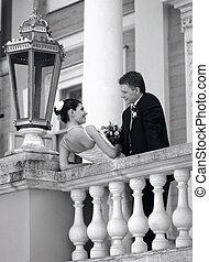 white esküvő, menyasszony inas