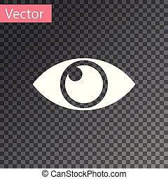 White Eye icon isolated on transparent background. Vector Illustration